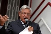 President-Elect Andres Manuel Lopez Obrador at his campaign headquarters in Mexico City, August 10, 2018.