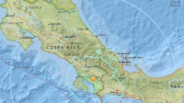 Sacudida parte de Costa Rica por fuerte sismo perceptible en Panamá