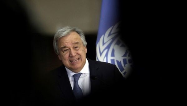U.N. Secretary-General Antonio Guterres laid out four options to protect Palestinians living under Israeli occupation.
