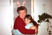 In 1985, Chicha Mariani hugs granddaughter Eugenia Gatica Caracoche, who had just recovered her identity.