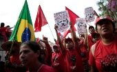Supporters of imprisoned former Brazil