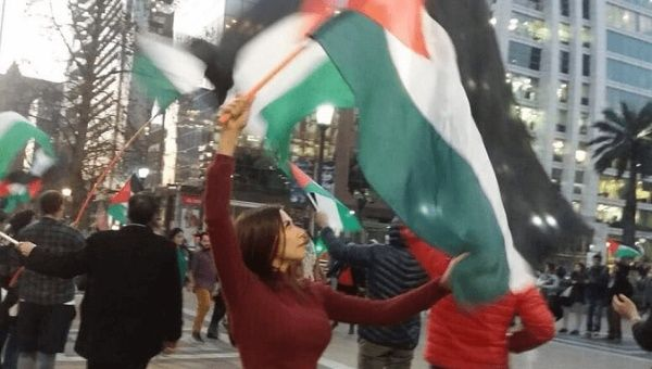 Chileans participate in protests against Israel