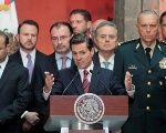President Enrique Peña Nieto in press conference at the National Palace. Mexico City, Mexico. August 20, 2018