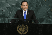 Guatemalan President Jimmy Morales addresses the 72nd United Nations General Assembly at U.N. Headquarters in New York, U.S., September 19, 2017.