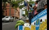 Rural workers in Panama protest against Chiquita brands in 2005.