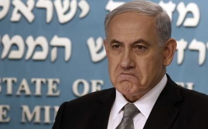 Prime Minister Netanyahu of Israel is pictured during a news conference at his office in Jerusalem.