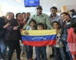 Venezuelan citizens leave the Jorge Chavez International airport in Lima on Saturday night with the help of Venezuela's Return to the Homeland Plan. Sept. 9,2018