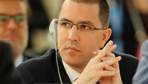 Venezuelan Foreign Minister Jorge Arreaza at the U.N. Human Rights Council.