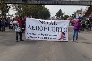 People of different communities from Atenco protesting against the New International Airport of Mexico City and injustices. Atenco, Mexico. September 11, 2018.