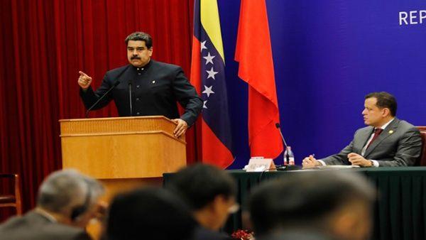 El mandatario venezolano estuvo presente en la Ceremonia de Clausura de la XVI Reunión de la Comisión Mixta de Alto Nivel China-Venezuela.
