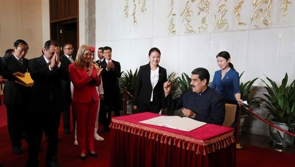 Venezuela-China relations have been built up since 1999.