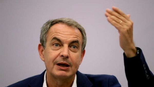 Zapatero during the forum Threats to Democracy and the Multi-polar Order, in Brazil.