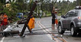 El tifón Mangkhut causó grandes destrozos en el norte de Filipinas