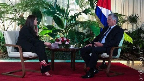 Cuban President Miguel Mario Diaz-Canel Bermudez