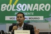 Military general Hamilton Mourao is the vice-presidential running mate of Jair Bolsonaro.