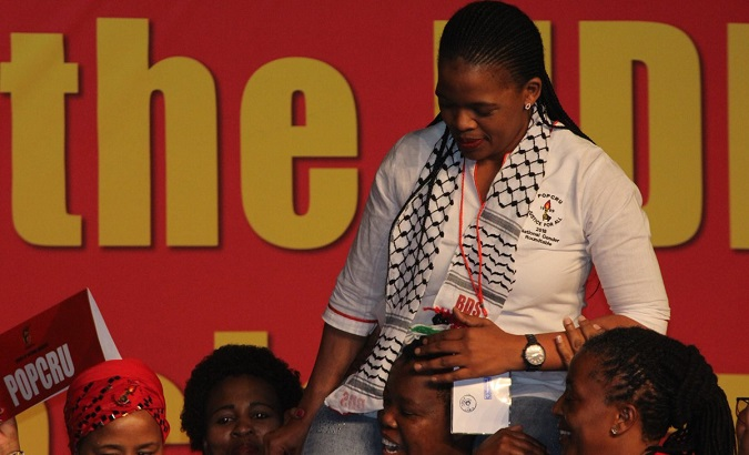 Zingiswa Losi, the first woman president of the Congress of South African Trade Unions.