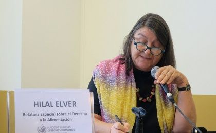 Hilal Elver, the UN Special Rapporteur on the Right to Food, alerted Mauricio Macri's government about high food insecurity problem in Argentina.