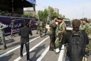 A general view of the attack during the military parade in Ahvaz, Iran Sept. 22, 2018.