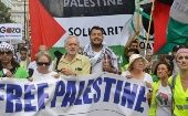 Labour Party leader Jeremy Corbyn at a pro-Palestinian rally in London, 2014.