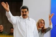 Venezuela's President Nicolas Maduro attends an event with foreign migrants living in Venezuela, in Caracas.