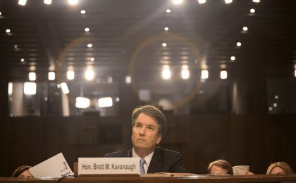 Supreme Court nominee Brett Kavanaugh testifies during the third day of his confirmation hearing before the Senate Judiciary Committee on Capitol Hill in Washington, U.S., September 6, 2018