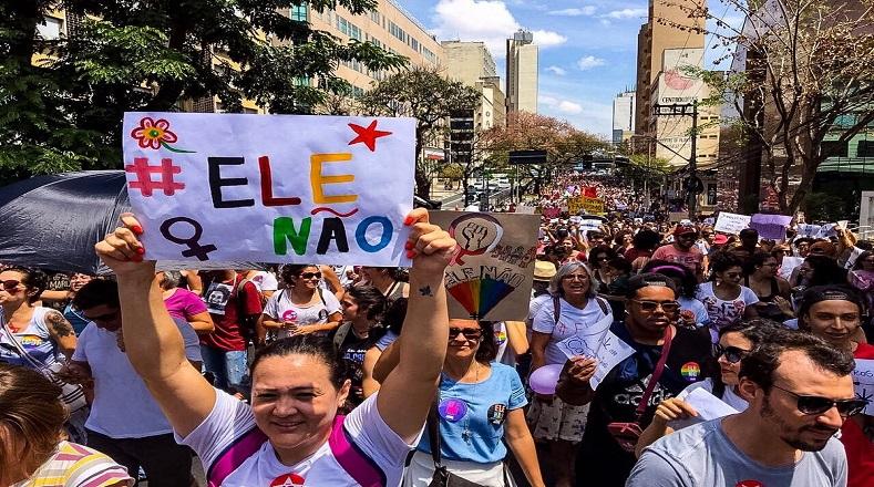 Resultado de imagen para marcha mundial de mujeres bolsonaro