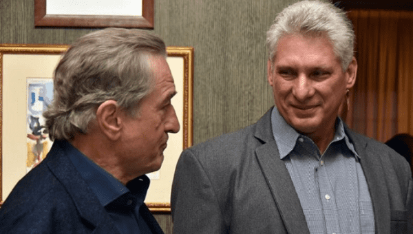 Image result for diaz canel with robert de niro