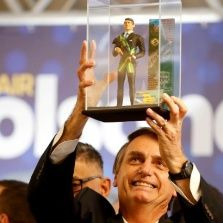 Bolsonaro the far-right former military presidential candidate of Brazil.