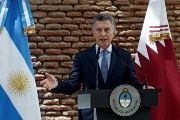 Argentina's President Mauricio Macri speaks during a meeting with Qatar's Emir Tamim bin Hamad al Thani at Casa Rosada Presidential Palace, in Buenos Aires, Argentina.