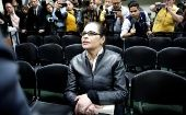 Former Vice-President Roxana Baldetti in the courtroom after she was found guilty of fraud, influence trafficking and illicit association over a government contract. Guatemala City.