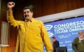 President Nicolas Maduro at the closing ceremony of the Working Class Constituent Congress in Caracas. October 11, 2018.