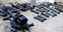 Entre las armas que eran usadas por los terroristas se encontraron lanzacohetes LAO y proyectiles norteamericanos rápidamente accionables.