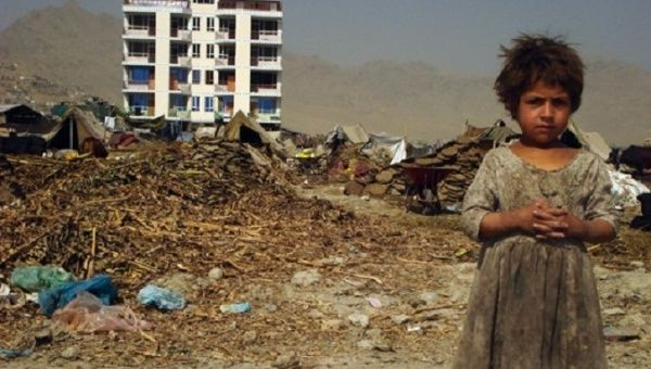 """Wartorn and struggling with the country's """"worst drought in living memory,"""" Afghans have abandoned their homes in search of food and water."""
