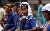 Colombian Campesinos demand better conditions in a 2014 march. Colombia is one of the region