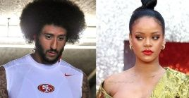 Rihanna (R) reportedly turned down Super Bowl Halftime show in support of the movement started by Colin Kaepernick.