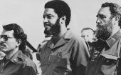 Daniel Ortega, Maurice Bishop and Fidel Castro