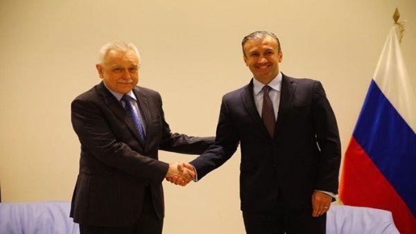 El vicepresidente sectorial de Economía, Tareck El Aissami, se reunió con elembajador de Rusia, Vladimir Zaemskiy, para evaluar los proyectos bilaterales.