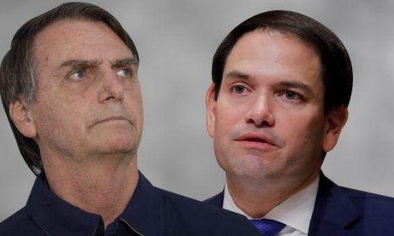 Bolsonaro y Rubio conversaron durante cuatro horas sobre armamentismo, sionismo y en contra del Gobierno de Nicolás Maduro en Venezuela.