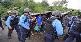 Los migrantes se dirigían hacia la ciudad de Tapachula para sumarse a la caravana de migrantes de centroamericanos.