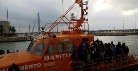 La OIM registró hasta el 24 de octubre de este 2018 el ingresó de 45.976 personas a través del Mar Mediterráneo.