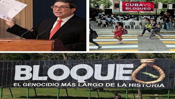 Bloqueo intenta estrangular economía de Cuba, denuncia canciller
