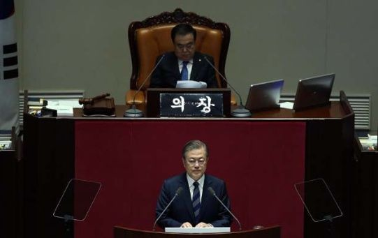 El presidente Moon Jae-in aseguró que la nueva cumbre con Kim Jong-un sera pronto.