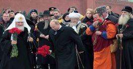 """El patriotismo es el """"eje de la memoria histórica"""", señaló el presidente de Rusia, Vladímir Putin."""