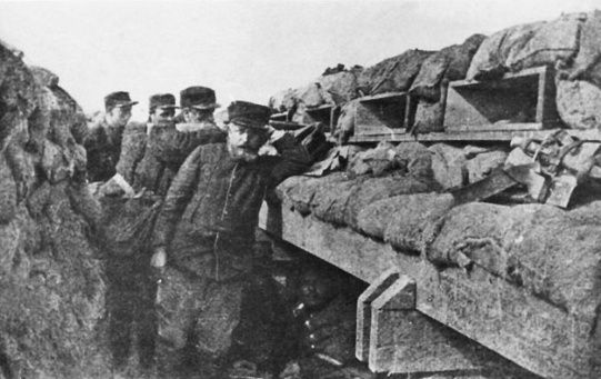 Sistema de trincheras francesas durante la Primera Guerra Mundial.
