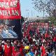Los manifestantes se congregaron en la sede del Ministerio de Salud y Desarrollo Social para exigir que se declare una emergencia alimentaria en Argentina.