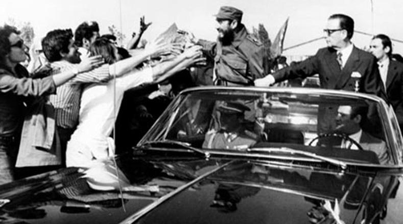 Fidel destacó las bondades de la clase obrera chilena y el respaldo que esta prestó al gobierno de Allende en los momentos más difíciles.
