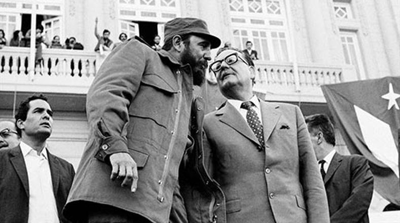 Fidel pronunció un discurso en el que reafirmaba los lazos de solidaridad con el proceso socialista chileno.