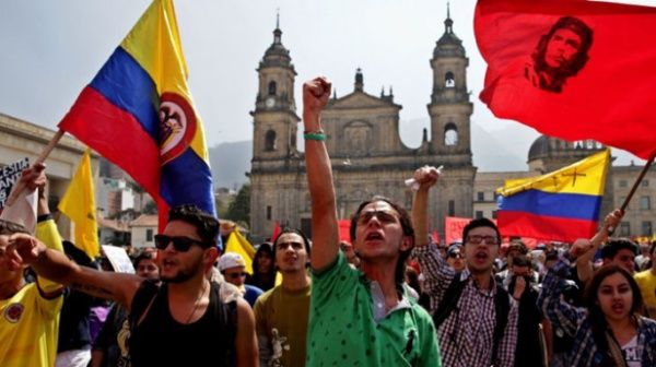 Image result for protestas en colombia