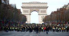 Chaquetas Amarillas se movilizan en contra de la política de económica de Emmanuel Macron.