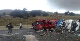 Las autoridades aun desconocen las causas del fatal accidente e tránsito.